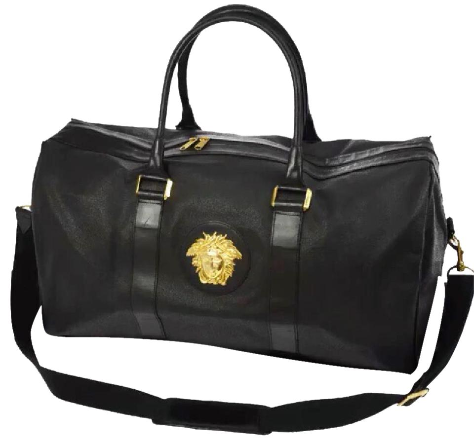 a83179629a00 Versace Medusa Palazzo Duffel Black Leather Weekend Travel Bag - Tradesy
