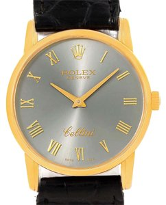 Rolex Rolex Cellini Classic 18k Yellow Gold Slate Dial Watch 5116 Box Papers