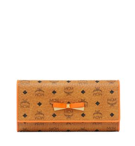 MCM NEW MCM MINA LARGE VISETOS MONOGRAM THREE FOLD WALLET