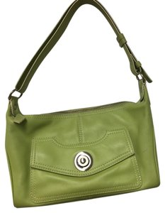 Via Spiga Designer Leather Tote in Green