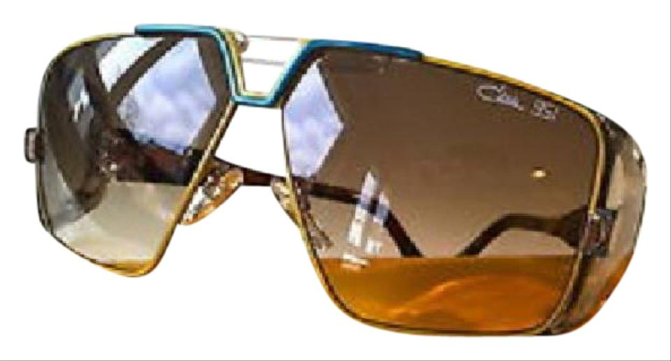Cazal Blue Yellow 951 003 30th Anniversary Edition Sunglasses
