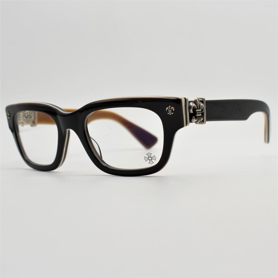 Chrome Hearts Brown Square Silver Two Tone Bangadang I Eyeglasses Rx ...