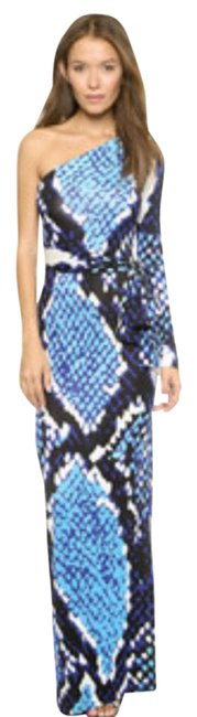Item - Blue/ Snakeprint Coco Maxi Long Night Out Dress Size 2 (XS)