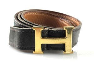 Hermès Dark Brown and Gold 13mm Reversible Constance