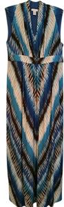 Blue, brown, white, tan Maxi Dress by Chico's Summer