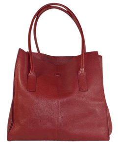 Banana Republic Leather Tote in Red