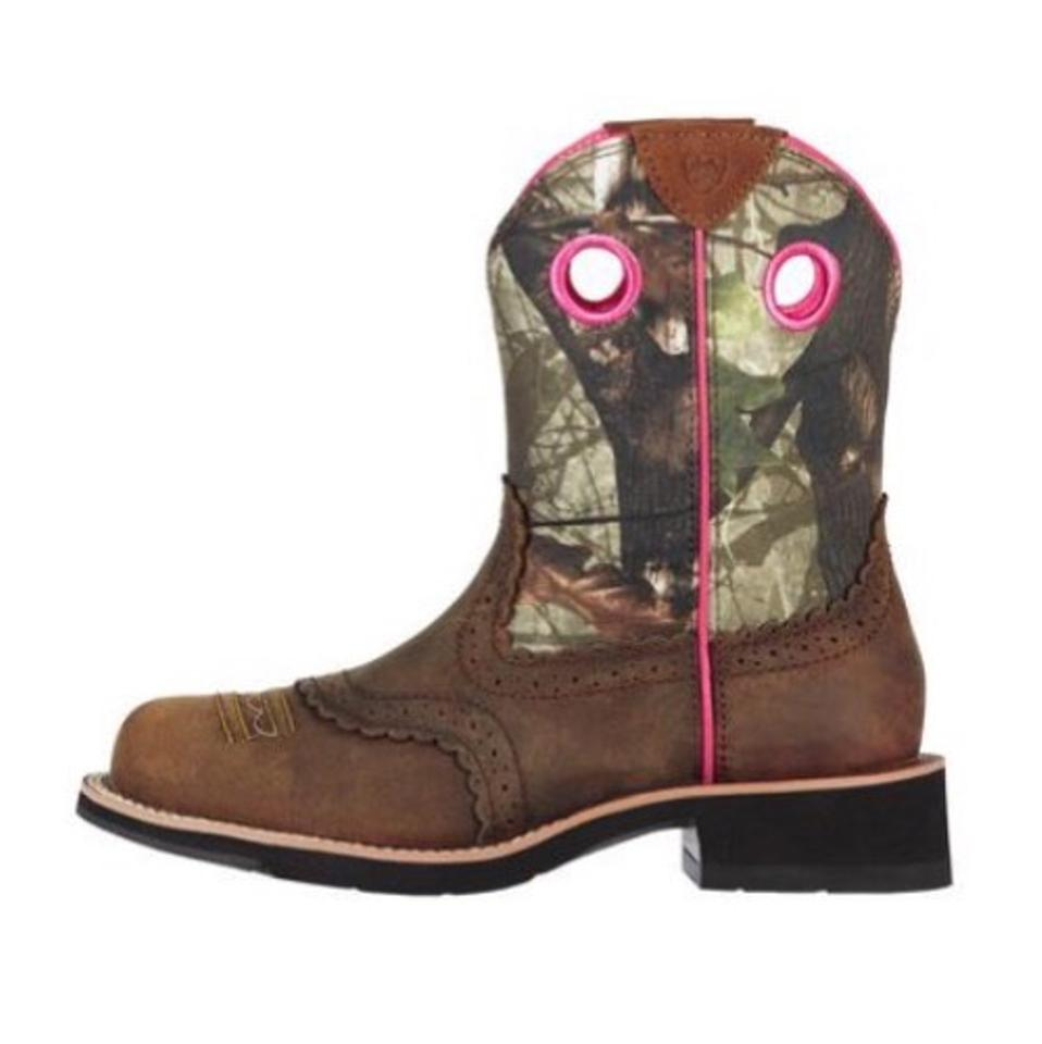 cfb8addc6ee69 Ariat Fatbaby Mossy Oak Cowgirl Boots/Booties Size US 6.5 Regular (M ...