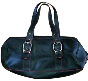 Cole Haan Leather Soft Leather Large Satchel in Black