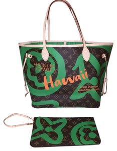 ab902e992ac Louis Vuitton Neverfull Tahitienne Hawaii Neverfull Tahitienne Tahitienne  Neverfull Tote in Green
