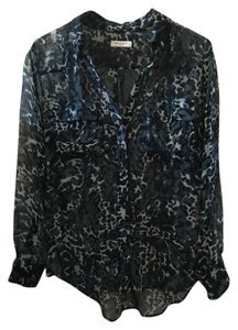 Equipment Silk Print Leopard Top