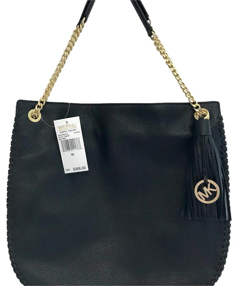 67fdbf45726a Michael Kors Whipped Chelsea 38s7xwcl3l. Lg Tz Shldr Black Leather ...