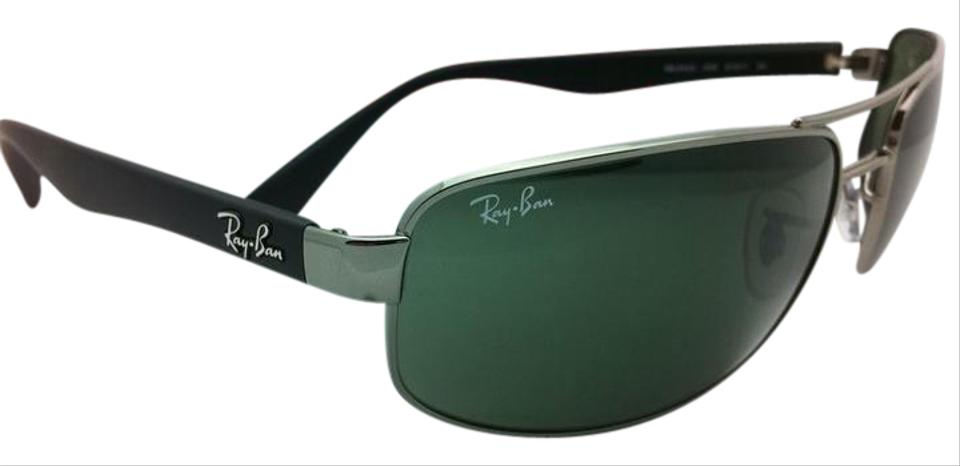 6cfd0bbf37 Ray-Ban Rb 3445 004 Gunmetal W  G15 Crystal Green Lenses New 61-17 ...