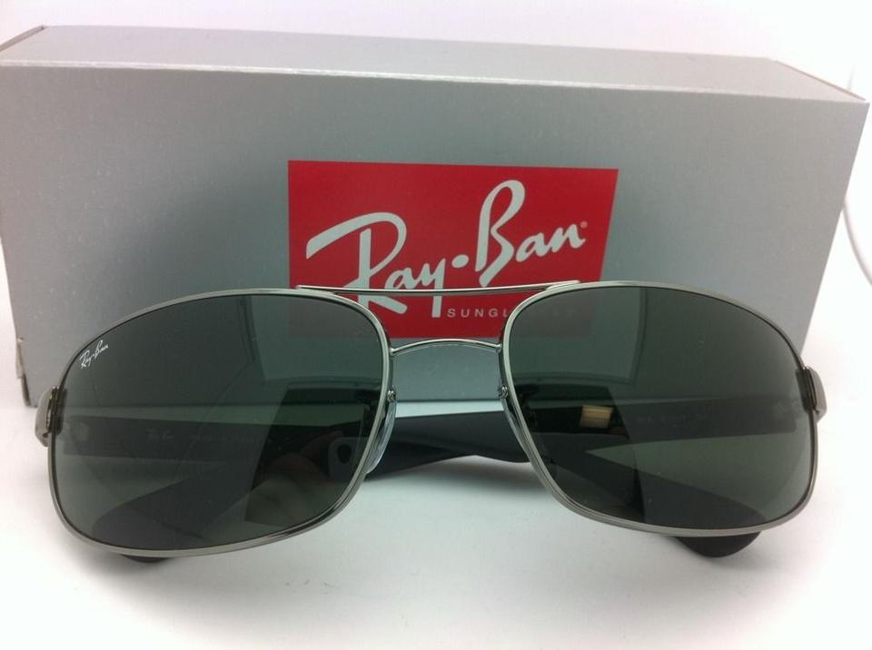 46e69c1192 Ray-Ban Rb 3445 004 Gunmetal W  G15 Crystal Green Lenses New 61-17 Frame W   Sunglasses - Tradesy