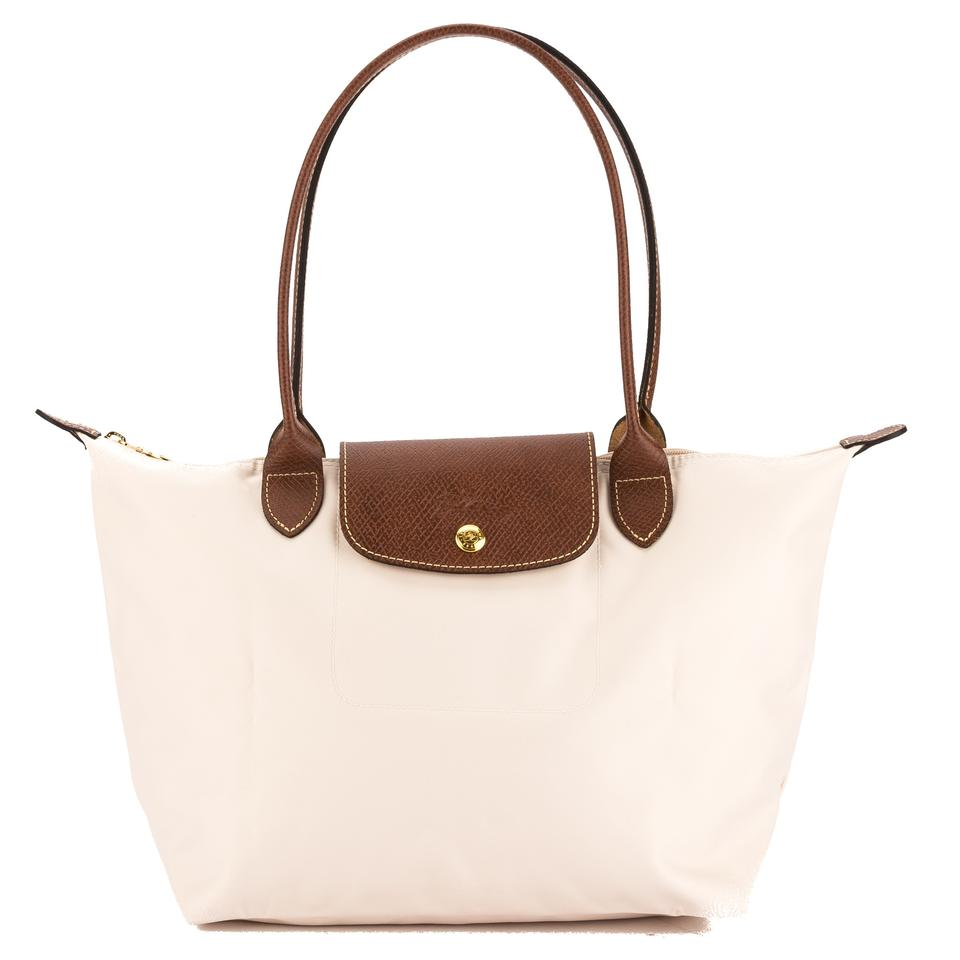287bf41c7587 Longchamp Canvas Le Pliage S Long Strap New with Tags Ivory Nylon ...