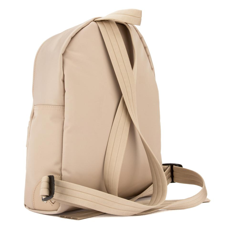 767985d34f4130 Longchamp Chalk Satin Canvas Le Pliage Neo New With Beige Nylon Backpack -  Tradesy