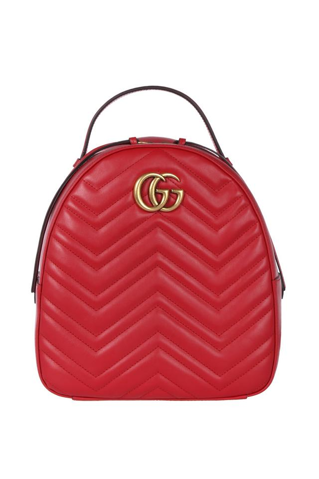 7a7533335499 Gucci Marmont Gg Quilted Red Leather Backpack - Tradesy
