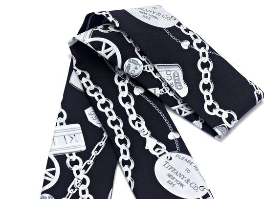 Tiffany & Co. Please Return To Tiffany & Co Black Silk Ribbon Scarf