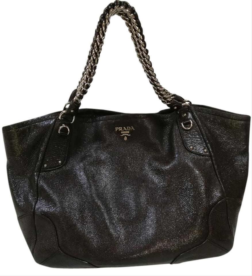 Prada Bags Black Leather