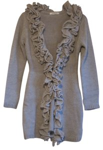 Mary L Couture Ruffle Sweater Cardigan