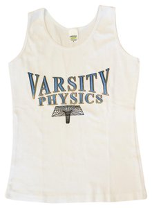 CafePress Varsity Physics Small Top White