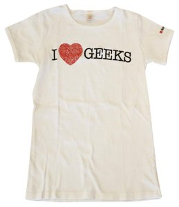 Anvil I Love Geeks T-shirt Small T Shirt White
