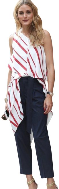 Item - Red Striped Layered Mid-length Casual Maxi Dress Size Petite 8 (M)