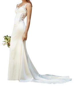 Watters Ivory Satin Cora 53313 Destination Wedding Dress Size 2 (XS)