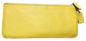 Coach Coach yellow zippered pouch Wallet