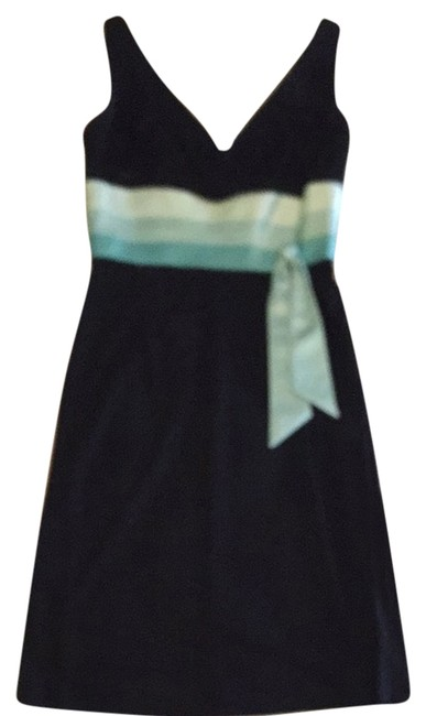 Preload https://item2.tradesy.com/images/kay-unger-dress-black-with-tiffany-blue-2165891-0-0.jpg?width=400&height=650