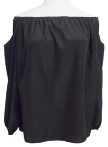 Lovely Day Cold Shoulder Sleeveless Sexy Top Black