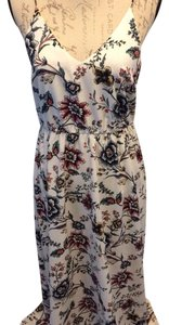 Cream multi floral Maxi Dress by Ann Taylor LOFT