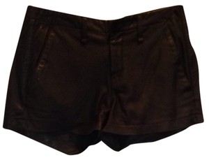 Rag & Bone Leather Pleated Leather And Fall Shorts Black Leather