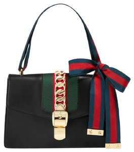 2333dc8699a Added to Shopping Bag. Gucci Shoulder Bag. Gucci Sylvie Medium Black Leather  ...