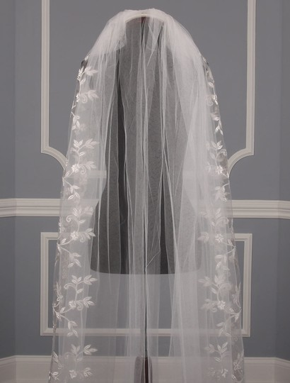 St. Pucchi Diamond White and Silver Long M9341 Bridal Veil Image 1