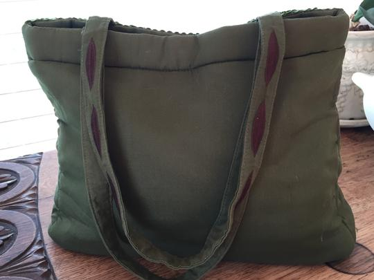 Dyrberg/Kern Sequinned Tote in Green