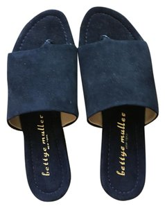 Bettye Muller Navy Blue Sandals