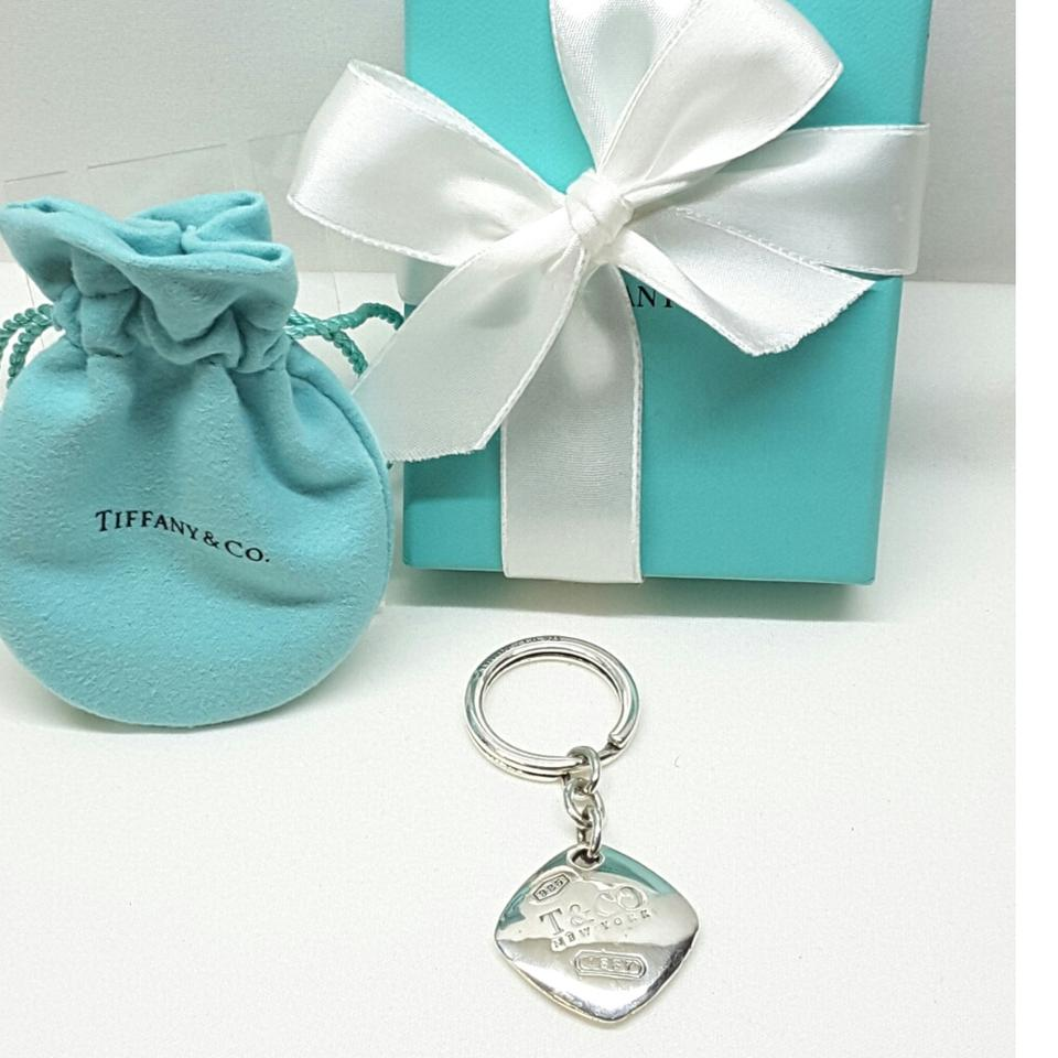 Tiffany & Co. Co 1837 T New York Square Key Ring Keychain Charm ...