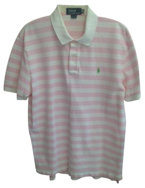 Item - Pink/White Polo By Tee Shirt Size 16 (XL, Plus 0x)