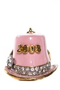 Juicy Couture Pink & Gold 2008 Hat Charm