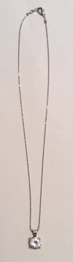 Forever 21 Forever 21 Silver Rhinestone Chain Necklace Pendant