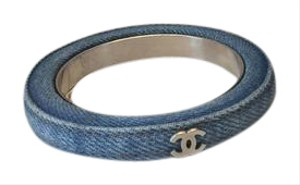 Chanel CHANEL NWT BLUE DENIM BANGLE ($600)