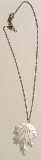 Forever 21 Forever 21 Silver Leave Flower Pearl Charm Chain Necklace Pendent Set - 2 Pieces