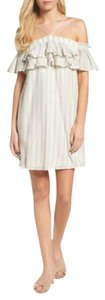 Greylin short dress Ecru Off The Shoulder Ruffle on Tradesy