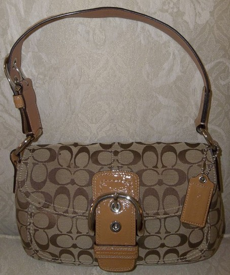 Coach Purse Satchel in Khaki/Tan