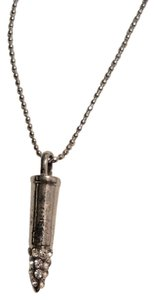 Forever 21 Forever 21 Rhinestone Silver Bullet Chain Necklace Pendant