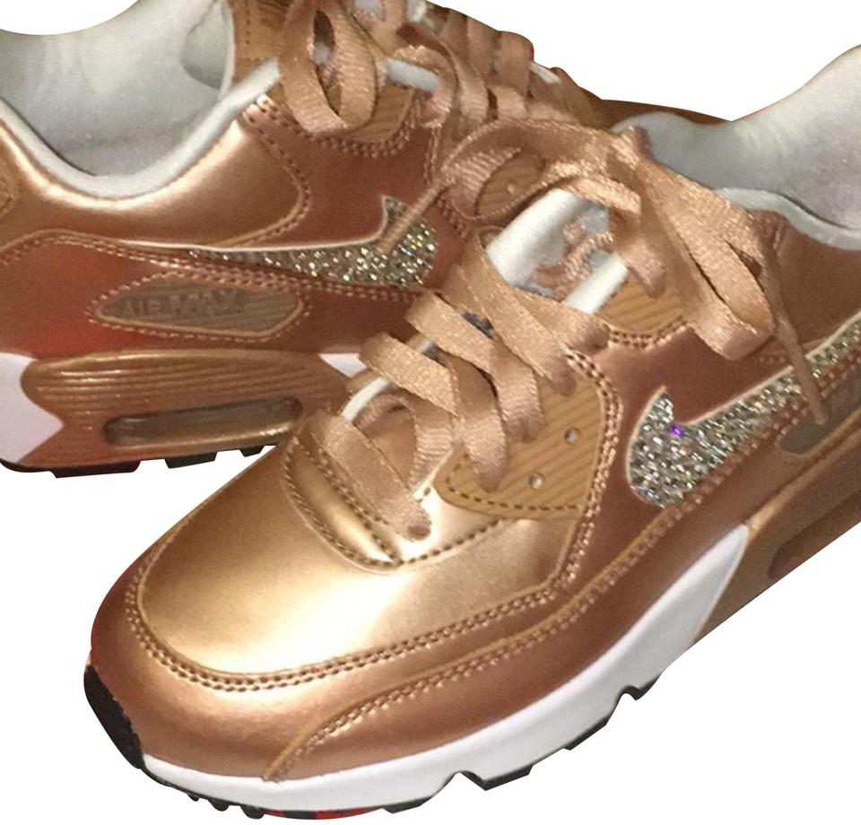6b574e4faea6 Nike Rose Gold Air Max 90 Se 859633 900 Sneakers Size US 6 Regular ...