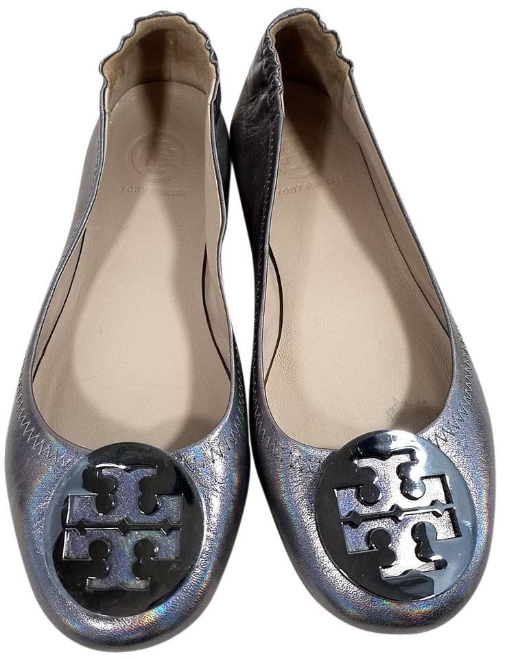 fd4079be6c4 Tory Burch Gunmetal Metallic Minnie Flats Size US 5.5 Regular (M