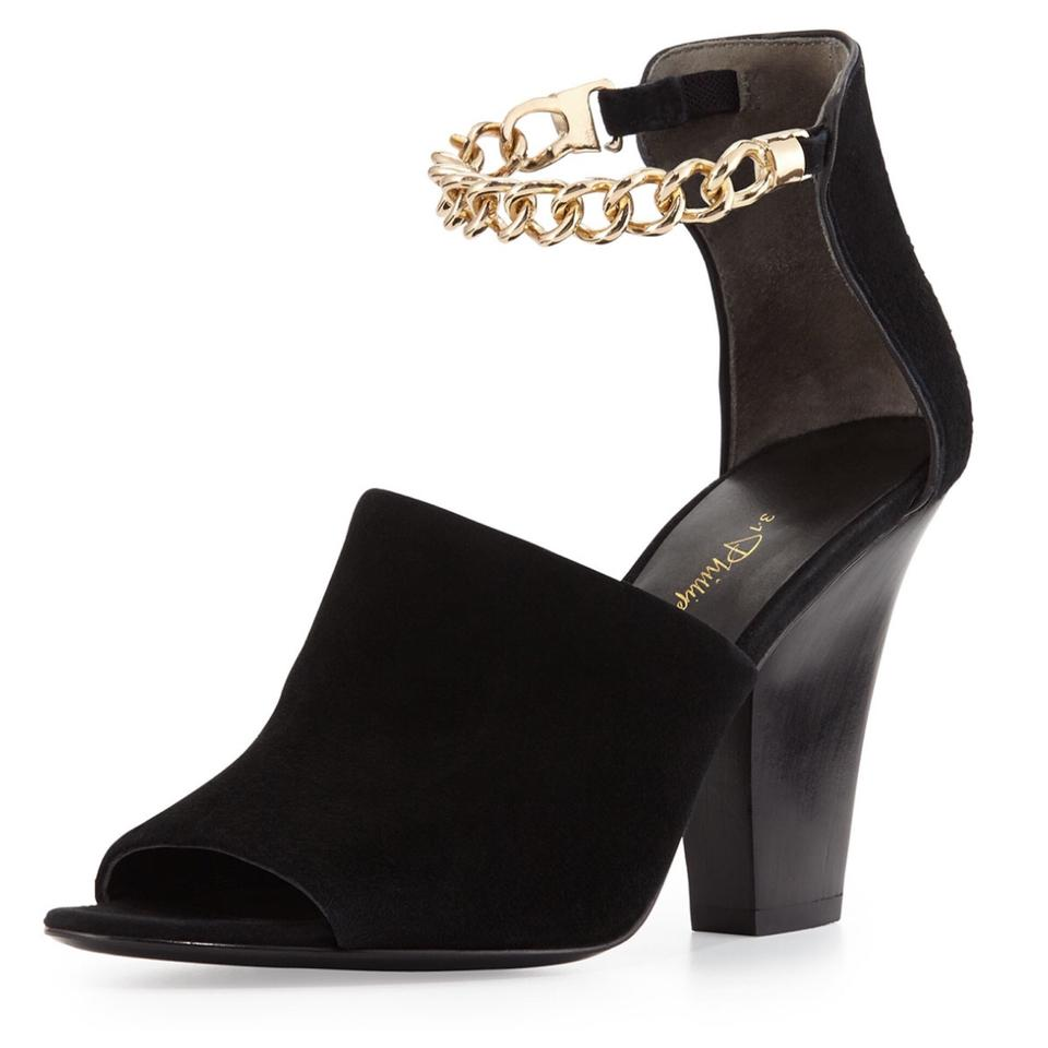 3.1 Ankle Phillip Lim Black Berlin Ankle 3.1 Chain Suede Sandals 53d70a
