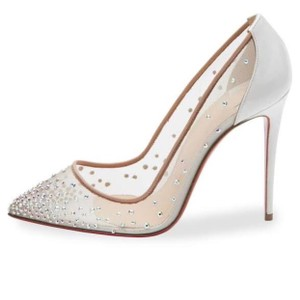 Christian Louboutin white/nude Pumps