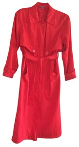British Mist Trench Coat red Jacket